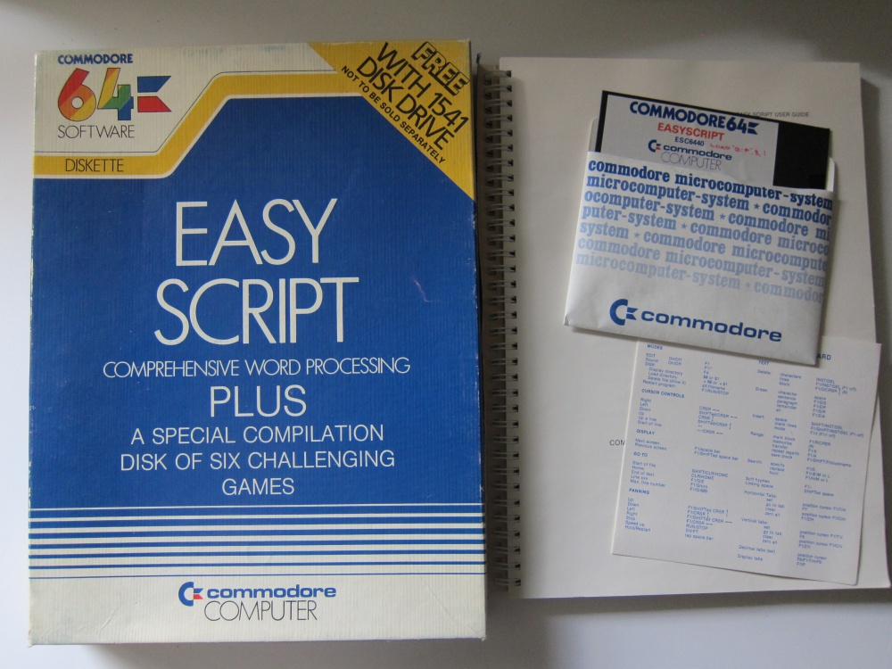 Easy Script (word processor + 6 Games) - For Sale - Game Bytes