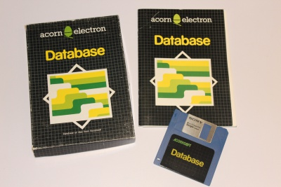 Database (For Acorn Electron Plus 3)