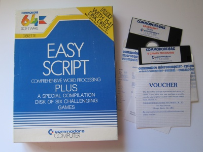 Easy Script (word processor + 6 Games) *Missing Manual*