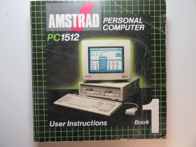 Amstrad PC 1512 User Instructions Book 1