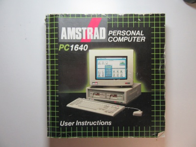Amstrad PC 1640 User Instructions