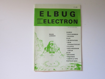 Elbug for the Electron - Jan/ Feb 1984