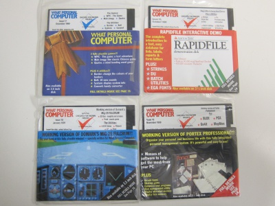 Set of 4 What Personal Computer Cover Disks (5.25