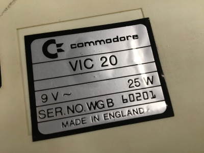 Centre for Computing History (GameBytes) - Faulty Commodore VIC20 Computer